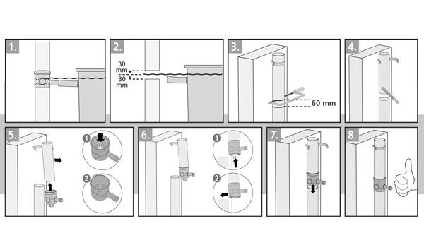 Jak podłączyć zbieracz wody deszczowej- schemat montazu